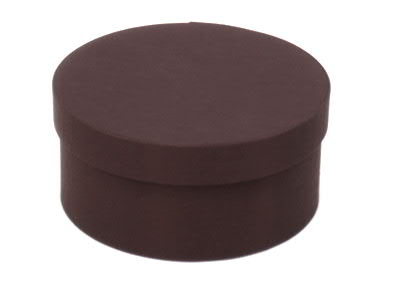 Dk Brown Round Fabric Boxes