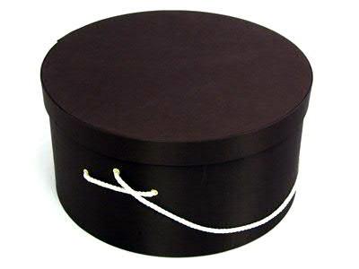 Dk Brown Hat Boxes
