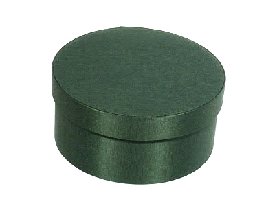 Forest green Oval Fabric Boxes