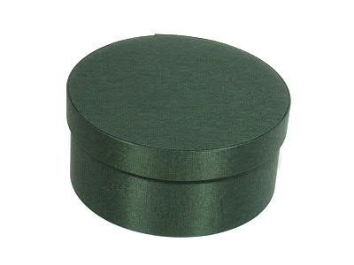 Forest Green Round Fabric Boxes