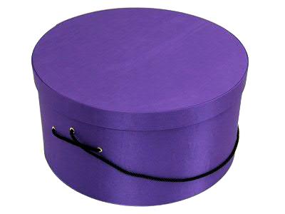 Dark Purple Hat Boxes