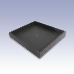 HUT1-B - BLACK SMALL PLASTIC TRAY