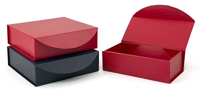 Special Purchase Leatherette Curve Flap Magnetic Gift Boxes