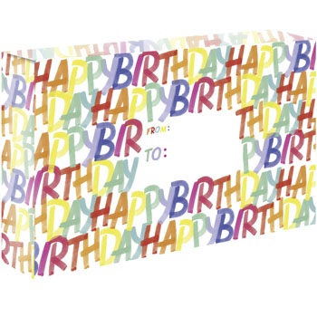 Rainbow Birthday Corrugated Mailers