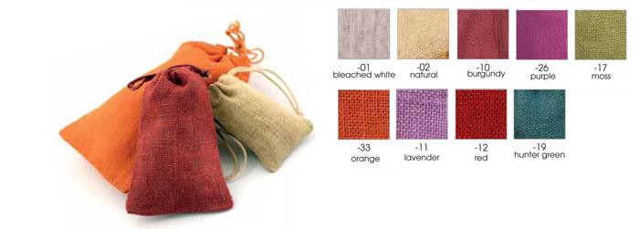Natural Jute Gift Pouches w/Matching Drawstring