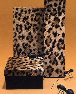 Leopard Print 2 Piece Set-Up Fiber Filled Jewelry Box
