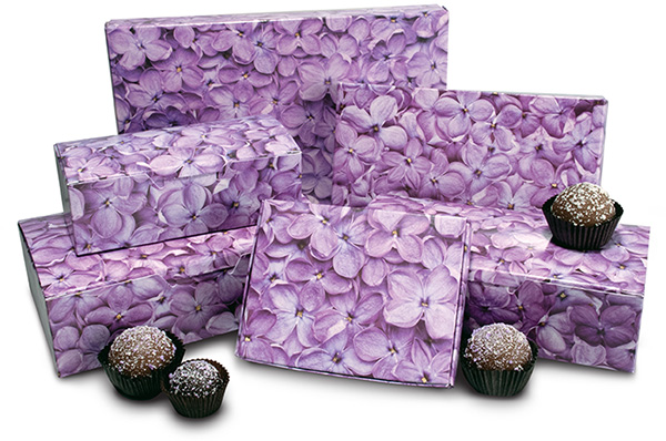 Quick Print Lilac Paper Candy Boxes