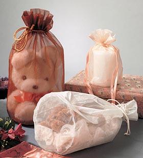 Sheer Round Bottom Organza Gift Pouches