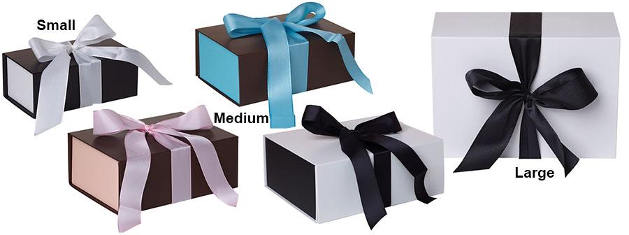 Ribbon Closure Gift Boxes