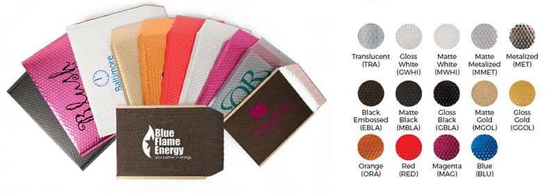Imprinted Poly Bubble Self Seal Mailers