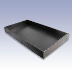 UT1.5-B - 1.5in. BLACK PLASTIC TRAY