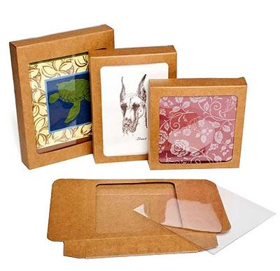 Window Kraft Stationery Boxes