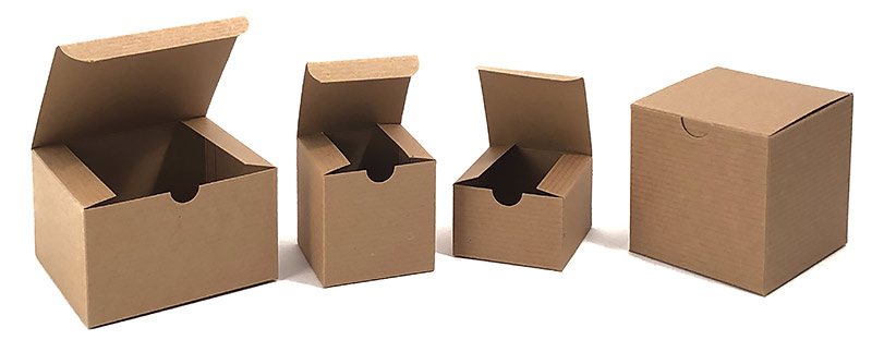 Economy Recycled Kraft Pinstripe Gift Boxes