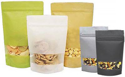 Rice Paper Laminate Window Zipper Bags Us Box Corp