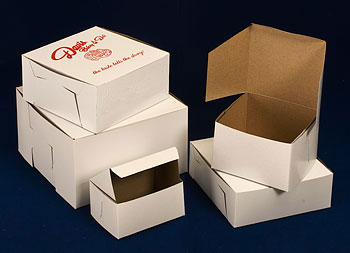 Lock Corner White Cake Bakery Boxes