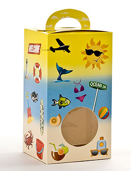 Vertical Beach Designed Window Candy Totes