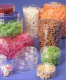 Rigid Clear Round Plastic Boxes