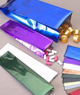 Heat Sealable Metalized Foil Bags w/Side Gusset