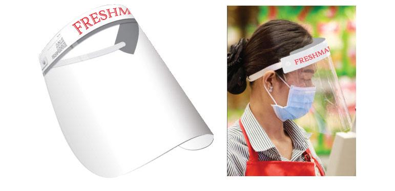 Custom Imprinted Face Shield w/ Adjustable Foam Headband