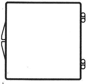 2 9/16 x 2 9/16 - Rigid Clear Hinged Plastic Boxes