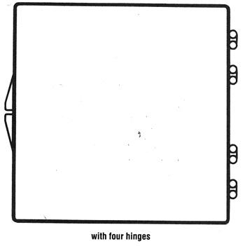 4 9/16 x 4 9/16 - Rigid Clear Hinged Plastic Boxes