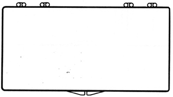 7 x 3 1/2 - Rigid Clear Hinged Plastic Boxes