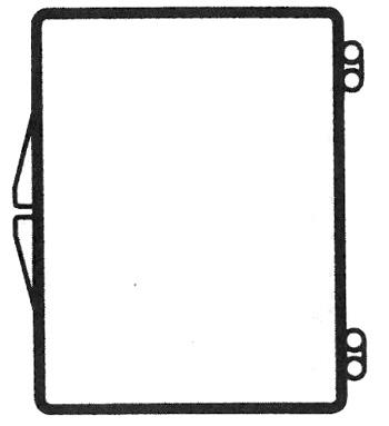 2 1/8 x 1 5/8 - Rigid Clear Hinged Plastic Boxes