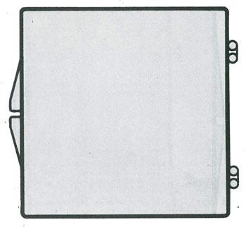 3 1/16 x 3 1/16 - Rigid Clear Hinged Plastic Boxes