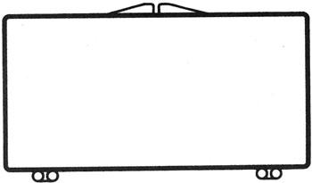 3 7/8 x 1 15/16 - Rigid Clear Hinged Plastic Boxes