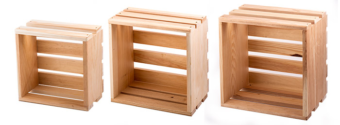 Wooden Store Display Crates