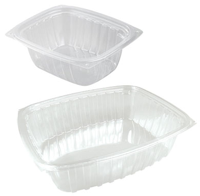 Clear Deli Containers w/ Snap-on Lids