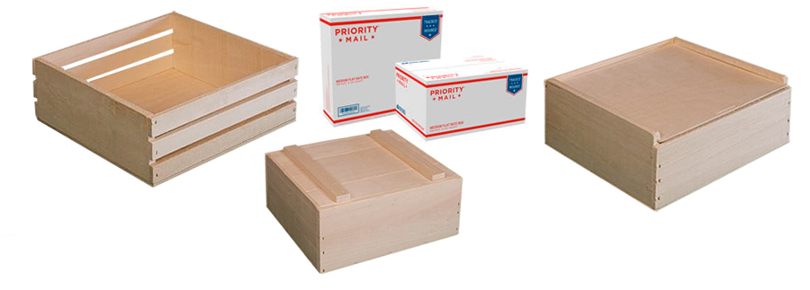 USPS Flat Rate Sized Wooden Boxes