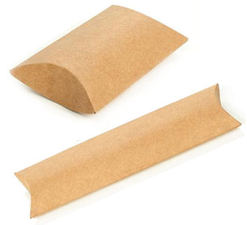 Brown Kraft Puff Pouches