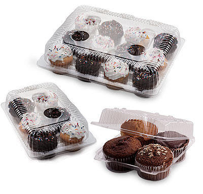 Crystal View Clamshell Cupcake And Muffin Boxes