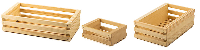 Wooden Slatted Gift Crates