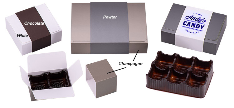 Flap Top Candy Boxes w/ Sleeves