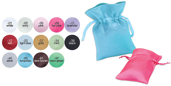 Satin Pouch With Satin Drawstring