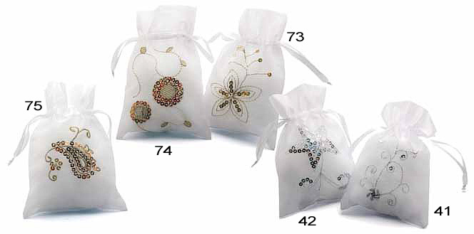 Organza Bags w/Embroidery and Sequins