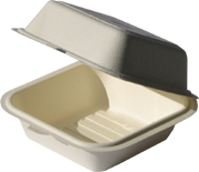 Biodegradable Bagasse Clamshell 6x6x3