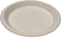 Biodegradable 10in Round Sugarcane Plates
