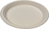 Biodegradable 6in Round Sugarcane Plates