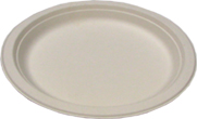 Biodegradable 9in Round Sugarcane Plates