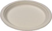 Biodegradable 9in Round Sugarcane Plates