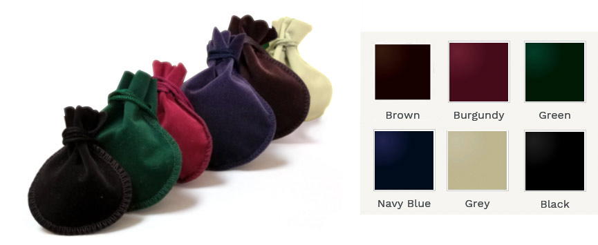 Royal Velveteen Rounded Drawstring Pouches