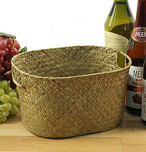 Seagrass Oval Tray