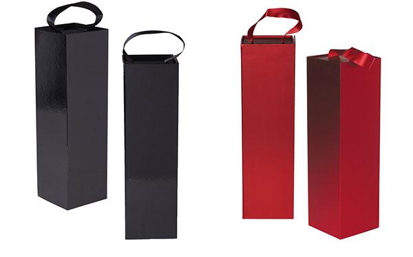 Rigid Magnetic Ribbon Handle Wine Box