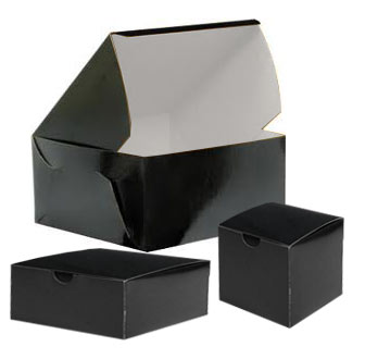 Lock Corner Black Cake Bakery Boxes
