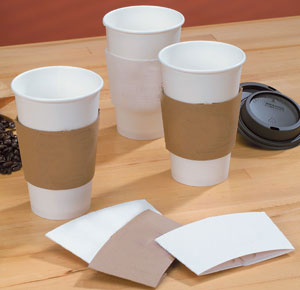 Blank Cardboard Coffee Clutch