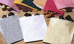 Blank Glassine Lined Pinch Bottom Paper Bags without Gusset