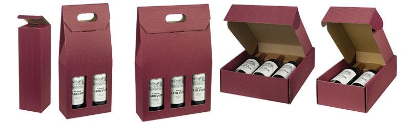 Bordeaux Texture Ribbed Italian Wine Boxes